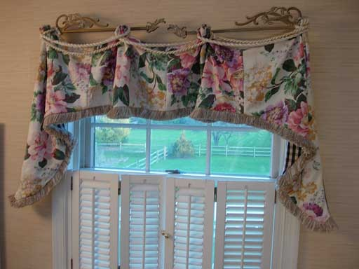 Vintage Scrap Fabric Window Valance In My Own Style