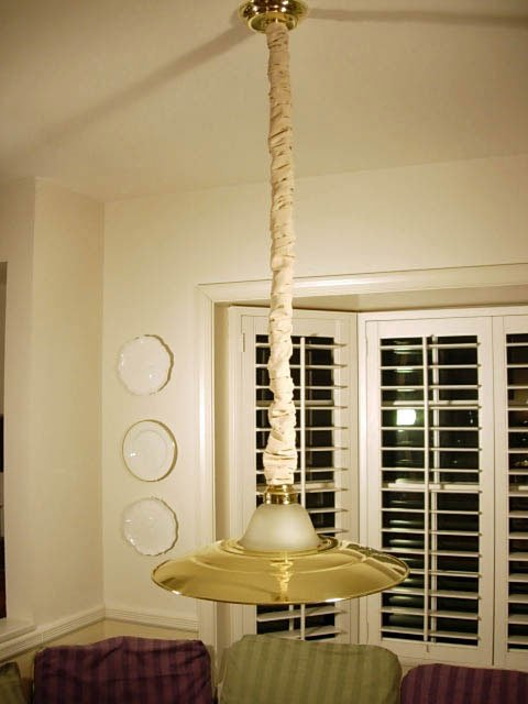 How to make a fabric chandelier chain cover