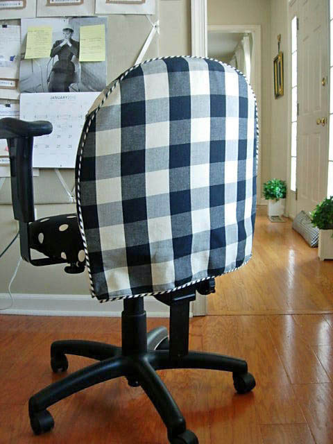 How to cover an office chair with fabric