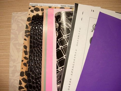scrapbook paper to tuck into envelopes