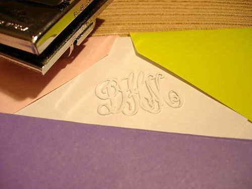 How to monogram an envelope with an embosser
