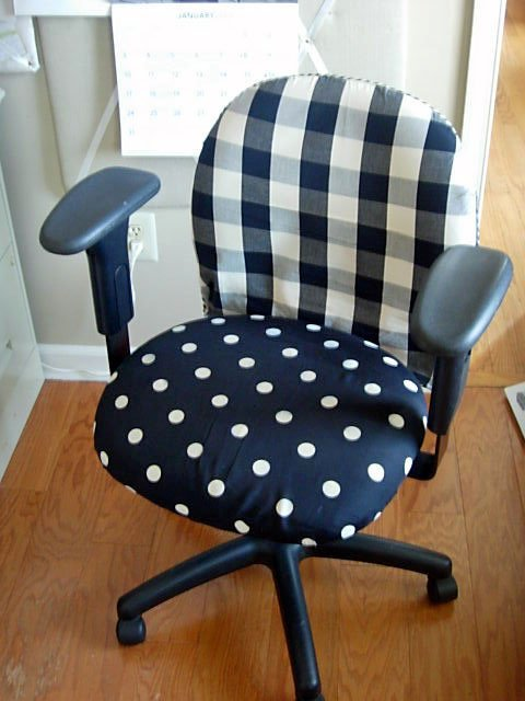 Fabric and Slipcovered fice Chair Makeover
