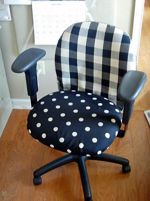 How to cover an office chair with fabric | InMy Own Style