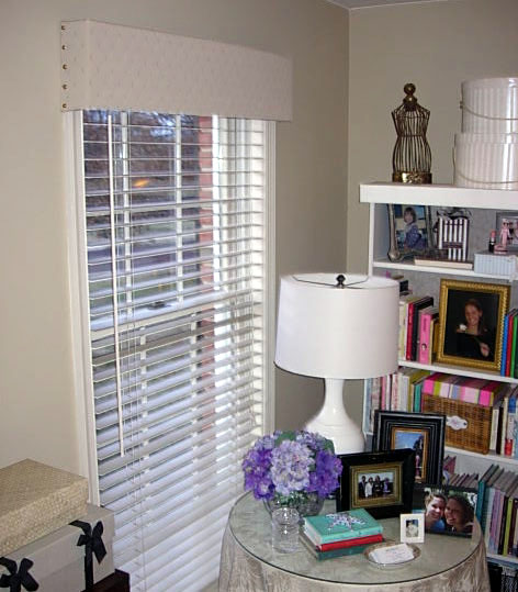 Easy-No-Sew-Window-Treatment & Recycled Cardboard Window Valance | In My Own Style