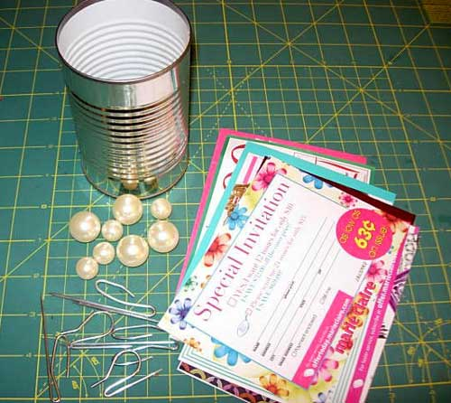 Trash to Treasure Tin Can Craft room organzing ideas