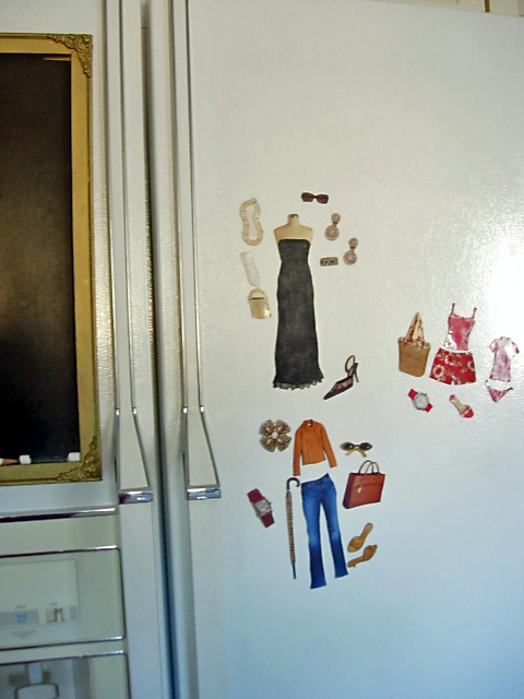 Chic Simple Style Fashion Magnets for your Fridge