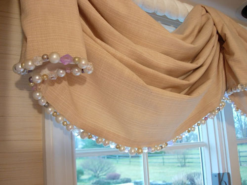 Beaded Trim on a Window Treament