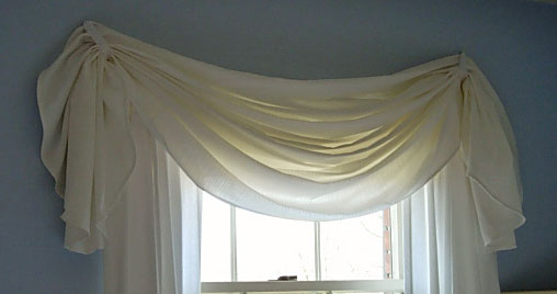 Tablecloth window valance
