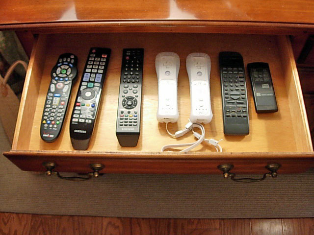Remote control organizing ideas-Drawer