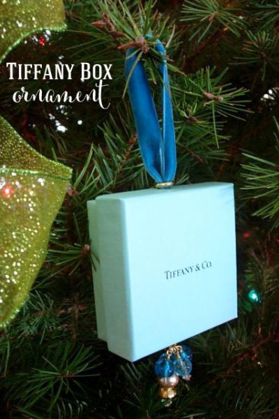 Christmas Tree Ornament Made Using a Tiffany Box