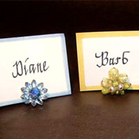 Simple Vintage Earring Place Card Holders