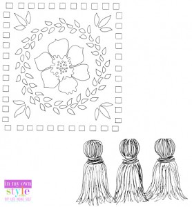 Free Painted rug stencil pattern