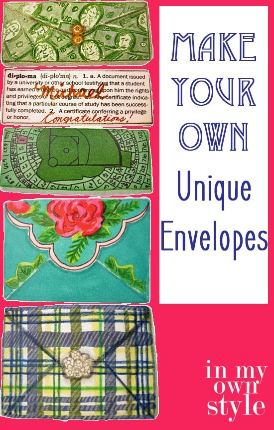 DIY: Embellished Paper Envelopes to use to give gift cards