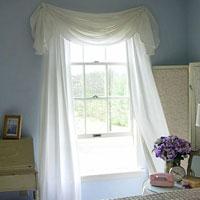 Easy to make window treatment idea Tablecloth Valance