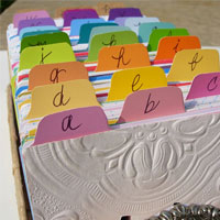 Rolodex In Artful Order: Paint Chip Crafts