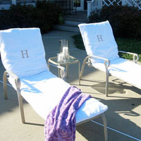 How to make covers for outdoor chairs using beach towels