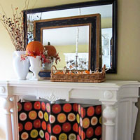 Fall Mantel Decorating: Mirror…Mirror On The Wall