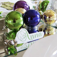 Christmas Place Cards using Jingle Bells