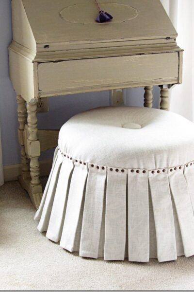 How To Make a No Sew Ottoman, Part 2