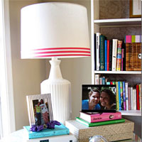 Lamp Shade Decorating Idea in My Craft Room