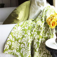 Risking It:  Upholstery Fabric Throw Blanket