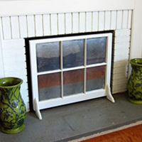 Window Sash Fireplace Screen