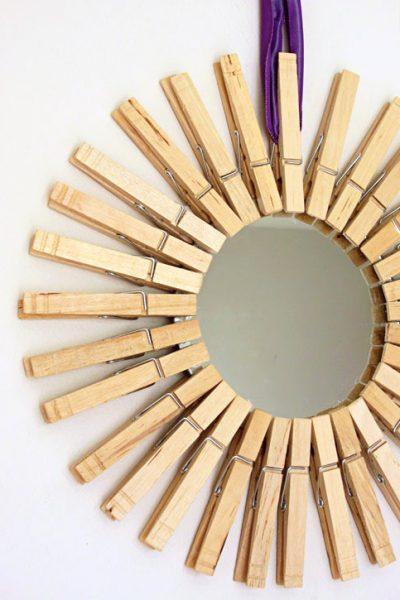 A Fun Take on a DIY Sunburst Mirror