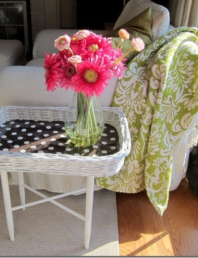 Thrift Store Decorating – Side Table