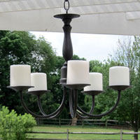 How to make an outdoor chandelier like the ones they sell at Pottery Barn