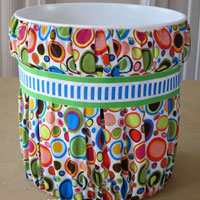 No-Sew Fabric Covered Paint Bucket Waste Can