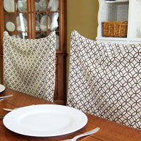 No Sew Chair Back Cover Using a Pillow Case