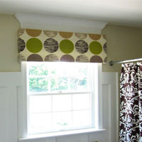 How to make a no sew window valance from a foam board