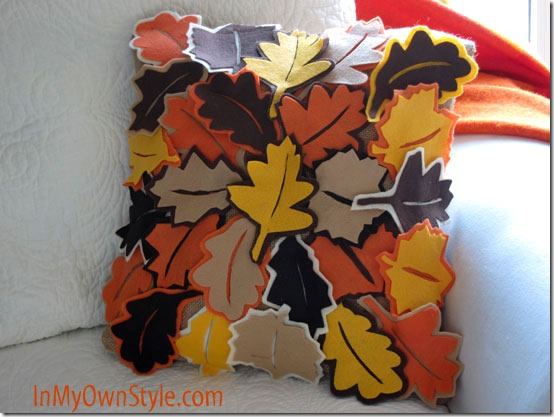 felt crafts tutorial: falling leaves pillow