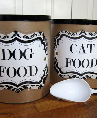 DIY: Pet Food Storage Containers + Labels