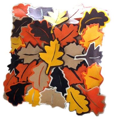 Fall Decor Ideas: Falling Leaves Pillow