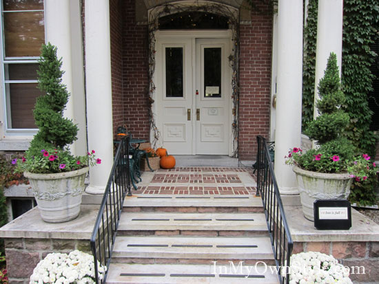 Front Door of the Willard Street Inn in Burlington Vermont