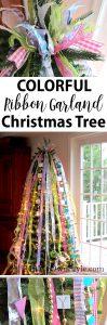How to make a vertical ribbon Christmas tree garland.
