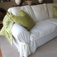 How to make easy slipcovers for sofas, chairs,and ottomans