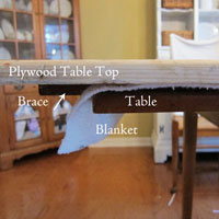 How To Enlarge A Dining Room Table for Extra Seating