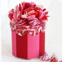How to Make a Tissue Paper Flower Valentine Gift Box