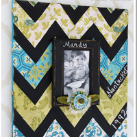 How To Make a Chevron Chalkboard Photo Frame