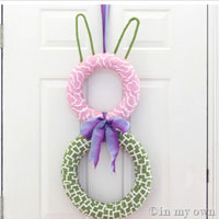 How to Make a Spring Bunny Wreath