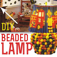 How to Make a Beaded Lamp and Wallpaper Shade