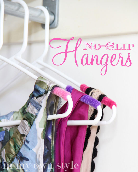 Clothes Closet Organizing: No Slip Hangers