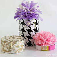 How to make gift boxes using cardboard ribbon spools