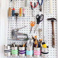 How to Organize Your Tools in a Craft Room: Creative Wall #2