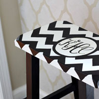 How to paint a monogram on furniture