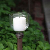 How to Make an Outdoor Walkway Candle Light
