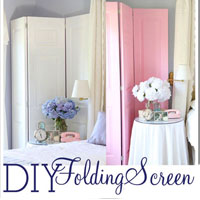 DIY: How To Make a Decorative Folding Screen