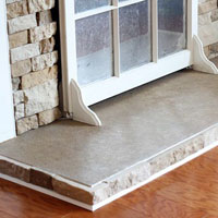 How to paint a fireplace hearth to look like stone
